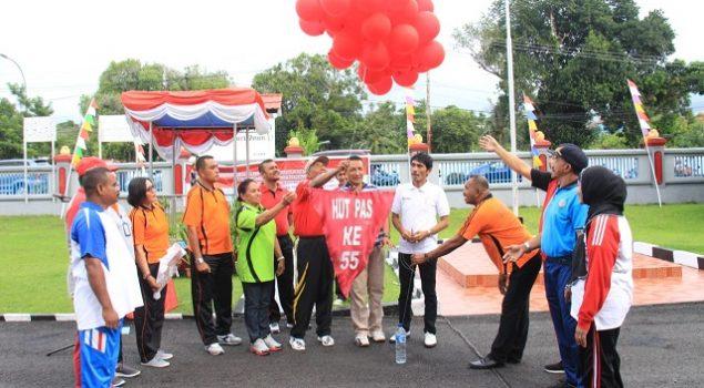 UPT PAS & Imigrasi Ambil Bagian Pada Pekan Olahraga Kanwil Maluku