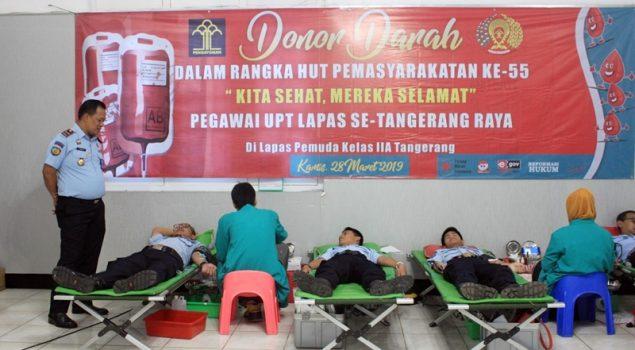 """Lapas Pemuda Tangerang Gelar Donor Darah """"Kita Sehat, Mereka Selamat"""""""