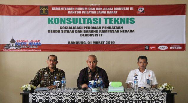 Rupbasan Bandung Fasilitasi Konstek Sosialisasi Pedoman Pendataan Basan Baran Berbasis IT
