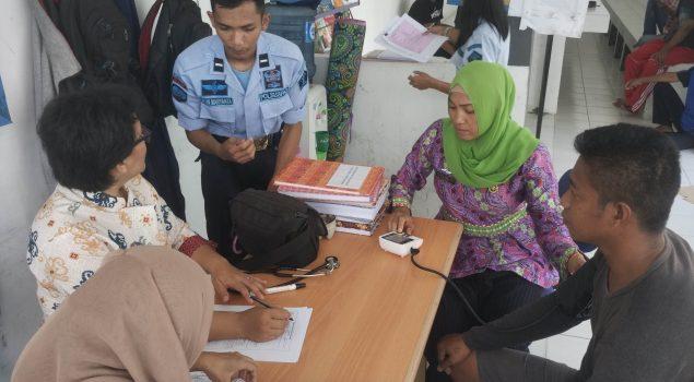 WBP Lapas Sukamara Jalani Skrining TBC