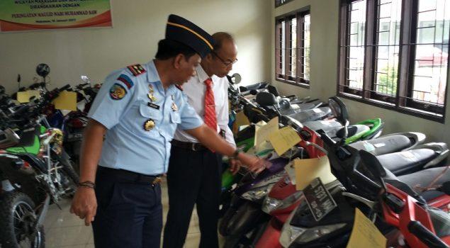 Polda Sulsel Tinjau Baran Sitaan di Rupbasan Makassar