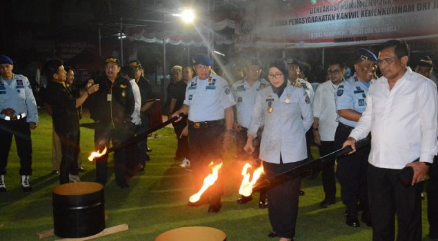 Kanwil Kemenkumham DKI Jakarta Deklarasikan Komitmen P4GN