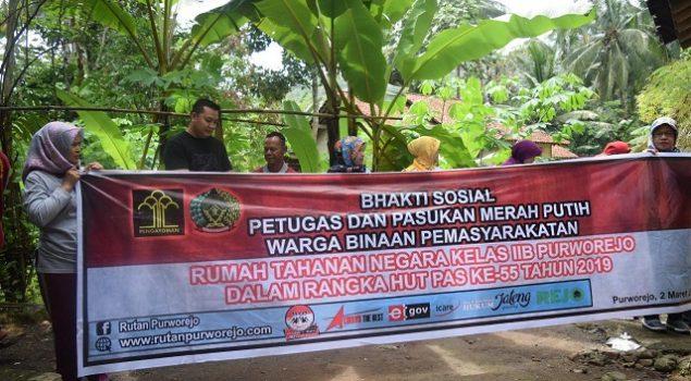 WBP & Petugas Rutan Purworejo Bakti Sosial Renovasi Musala
