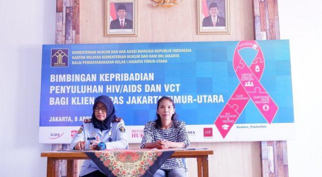 Bapas Jakarta Timur-Utara Lakukan Kegiatan Bimbingan Kepribadian Penyuluhan HIV / AIDS Dan VCT