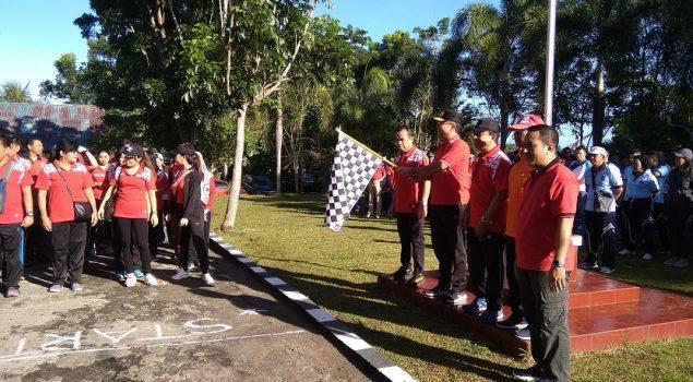 Rutan Manado Berpartisipasi dalam Jalan Sehat Kanwil Sulut