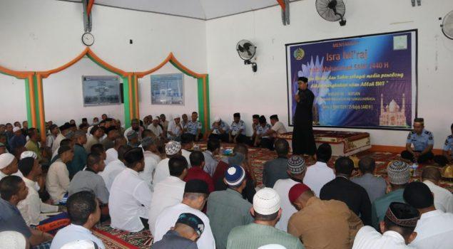 Peringati Isra Mi'raj, WBP Diminta Ikuti Pembinaan dengan Baik