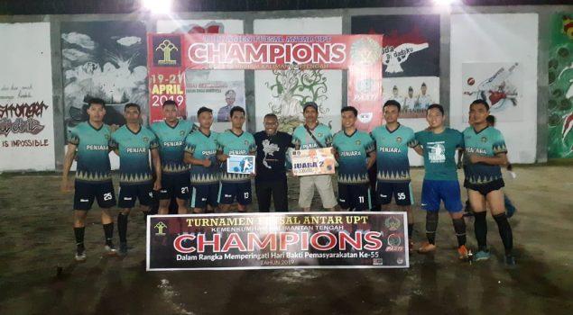 Tim Rutan Palangka Raya Juara Liga Futsal UPT se-Kalteng