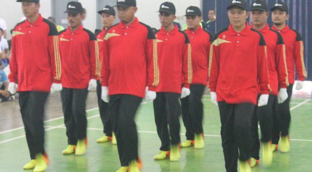 WBP Lapas Semarang Uji Kebolehan Lomba Baris Berbaris Dan Pengucapan Catur Dharma Narapidana