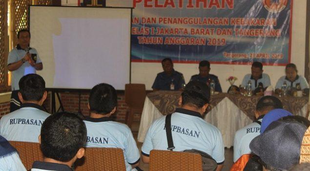 Petugas Rupbasan Jakbar & Tangerang Ikuti Pelatihan Pencegahan & Penanggulangan Kebakaran