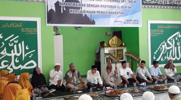 Rutan Manado Gelar Isra Mi'raj & Khataman Al Quran