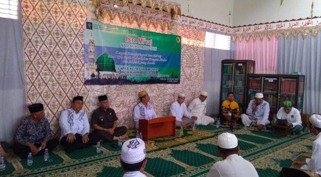 Sejumlah UPT Pemasyarakatan Gelar Peringatan Isra Mi'raj 1440 Hijriah