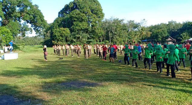 LPN Karang Intan Olahraga Bersama dengan SKPD Kec. Karang Intan
