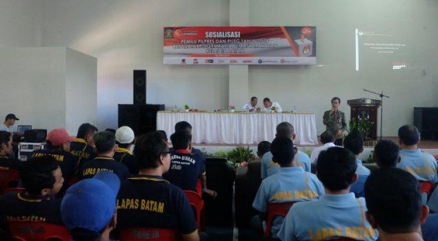 Bawaslu Kepri Sosialisasikan Pemilu di Lapas Batam