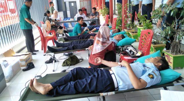 Peduli Kemanusiaan, Rutan Bantaeng Gelar Kegiatan Donor Darah