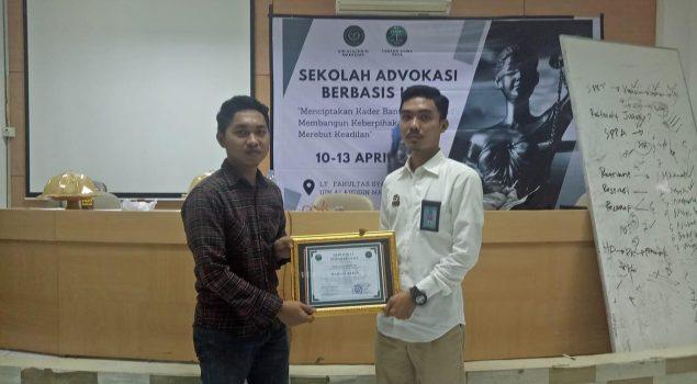 PK Bapas Watampone Isi Materi SPPA di Sekolah Advokasi Mahasiswa.