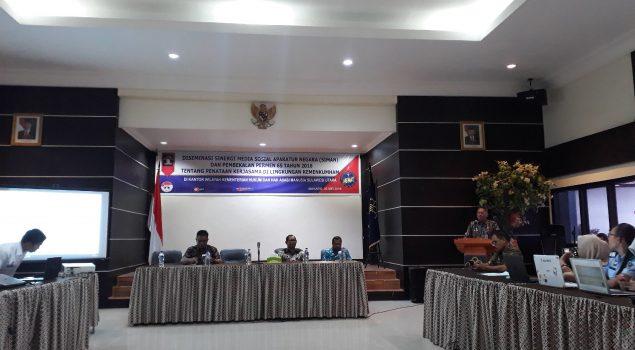 Humas Rutan Manado Ikuti Diseminasi Sinergi Media Sosial ASN