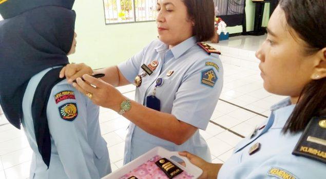 Kalapas Perempuan Ambon Pimpin Upacara Kenaikan Pangkat & Pelantikan Pengurus Keagamaan