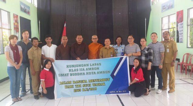 Lapas Ambon Sambut Kedatangan Umat Budha Kota Ambon