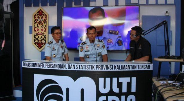 Divisi PAS Kalteng Infokan Pembinaan WBP Dalam Dialog dengan Kominfo