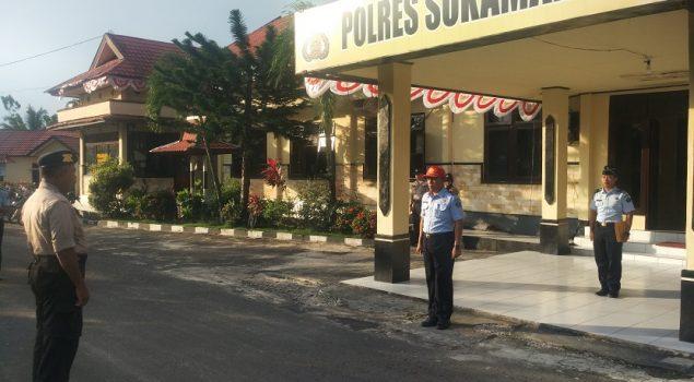 Kalapas Sukamara Pimpin Apel Gabungan TNI-Kepolisian-Lapas