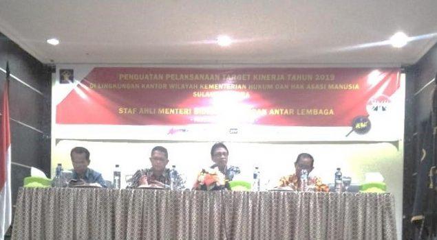 Perwakilan Rutan Manado Hadiri Penguatan Pelaksanaan Target Kinerja Tahun 2019