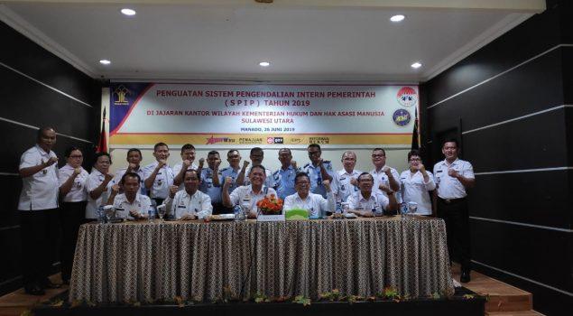 Perwakilan Rutan Manado Hadiri Penguatan SPIP Kanwil Sulut