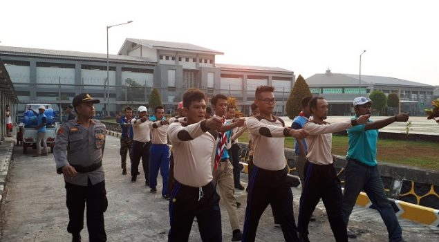 PBB & Wawasan Kebangsaan Latih Disiplin WBP Lapas Gunung Sindur