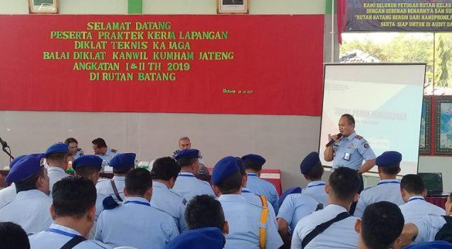 Peserta Diklat Pengamanan Lakukan PKL di Rutan Batang
