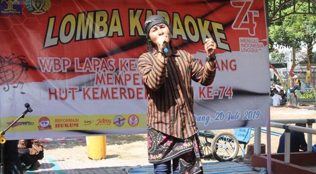 Sambut Hut RI, Lapas Semarang Gelar Lomba Karaoke Bagi WBP