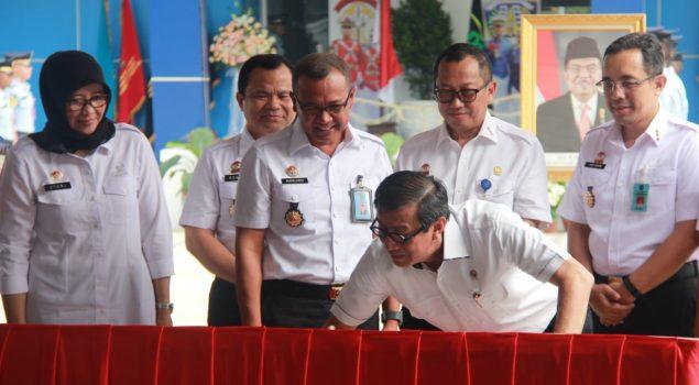 Menkumham Resmikan Gedung Poltekip-Poltekim Kampus Tangerang