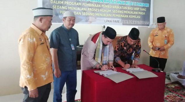 PK Bapas Makassar Inisiasi MoU LPKA Parepare & Yayasan Sahabat Nurul Iman