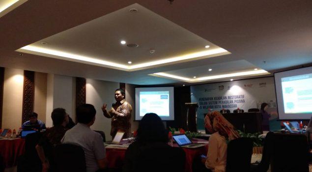 Kabapas Dan PK Madya Bapas Makassar Hadiri FGD Penerapan Keadilan Restoratif Sistem Peradilan Pidana