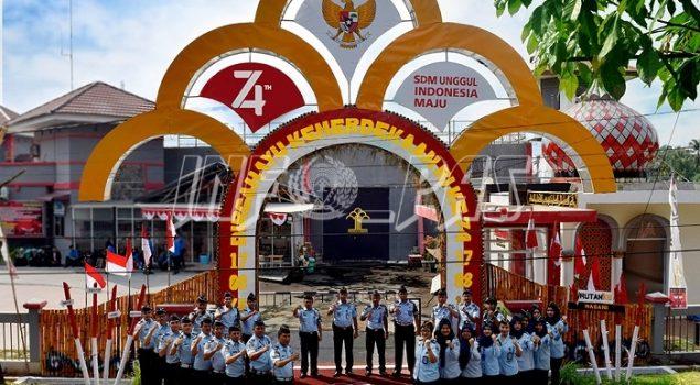Dibangun 17 Hari, Gapura Pengayoman Rutan Pekanbaru Masuk 7 Besar Festival Gapura Cinta Negeri Tingkat Nasional