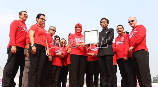 200 Ribu Petugas & WBP Pecahkan Rekor MURI Tari Kolosal Indonesia Bekerja