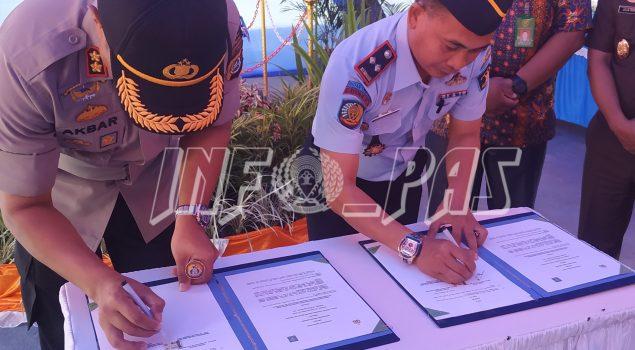 Perkuat Sinergi Antar Penegak Hukum, Rutan Unaaha dan Polres Konawe Tandatangani MOU di Bidang Keamanan