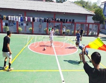 Tim Futsal Rutan Manado & Rudenim Manado Gelar Uji Coba Futsal
