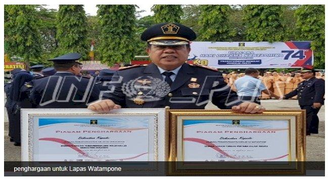 Lapas Watampone Berhasil Menyabet 2 Penghargaan