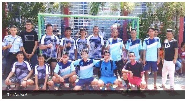 Tim Asoka A Juarai Turnamen Futsal Rutan Manado