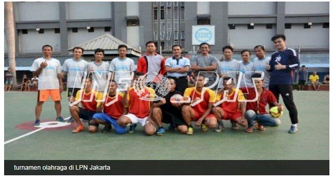 WBP Semarakkan Turnamen Futsal & Voli di LPN Jakarta