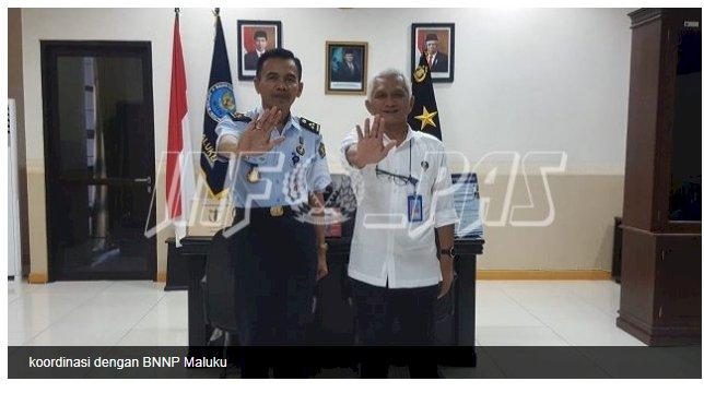 Kadiv PAS Maluku Bahas Upaya Penanggulangan Narkoba Dengan BNPP