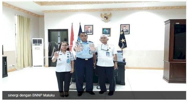 Kalapas Ambon Bangun Sinergi Dengan BNNP Maluku