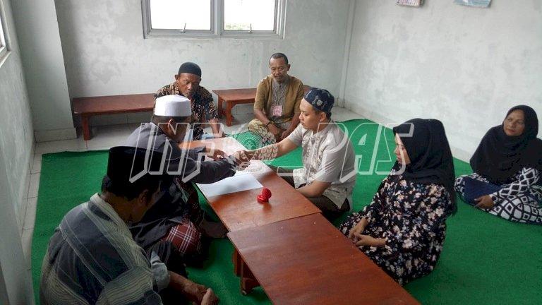 Tembok Penjara Tak Halangi Tahanan LPN Pangkalpinang Menikah