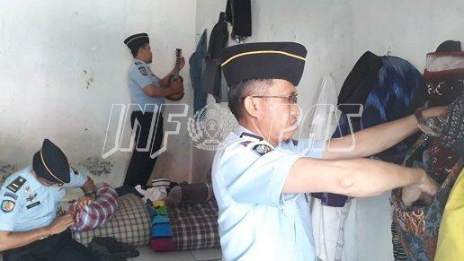 Petugas Rutan Rangkasbitung Sidak WBP Jelang HUT Kab. Lebak