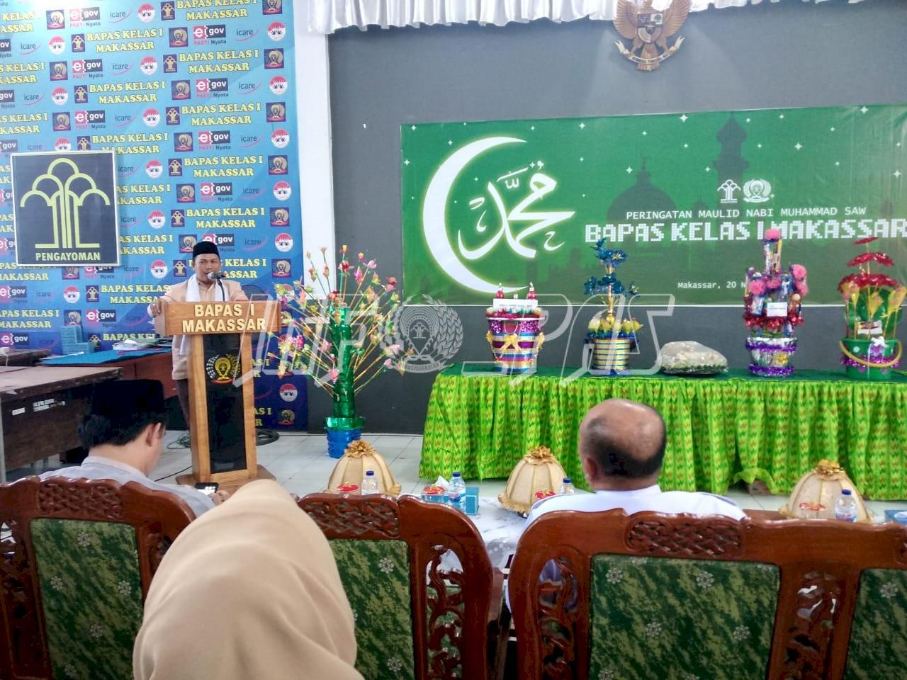 Bapas Makassar Hadirkan Da'i Mantan WBP di Peringatan Maulid Nabi Muhammad SAW