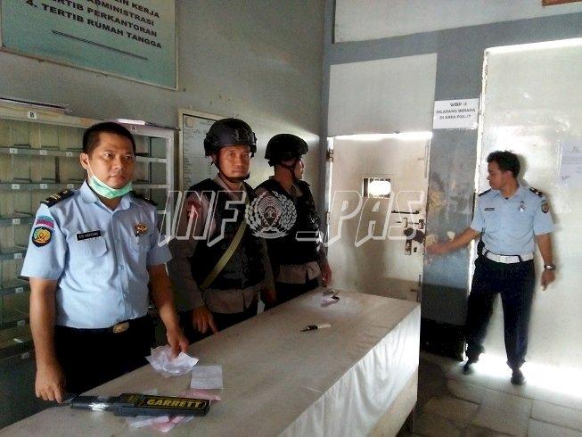 Cegah Gangguan Kamtib, Lapas Sampit Bersinergi Dengan Kepolisian Setempat