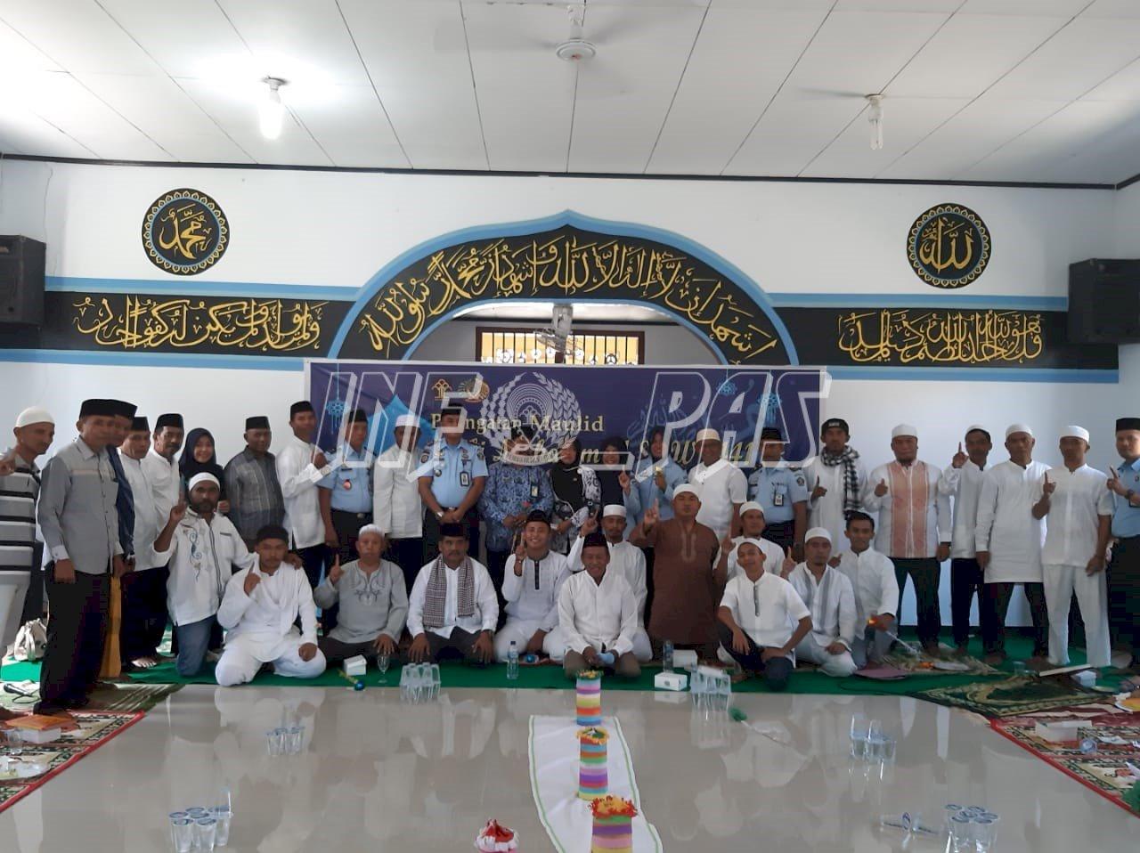 Masjid At Taubah Lapas Ambon Dipenuhi Jamaah Maulid Nabi Muhammad SAW
