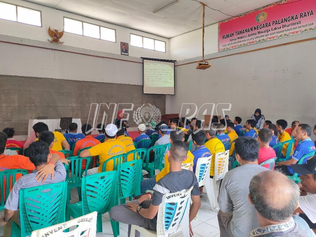 WBP Rutan Palangka Raya Ikuti Penyuluhan, Konseling, Serta Pemeriksaan HIV/AIDS dan Sipilis