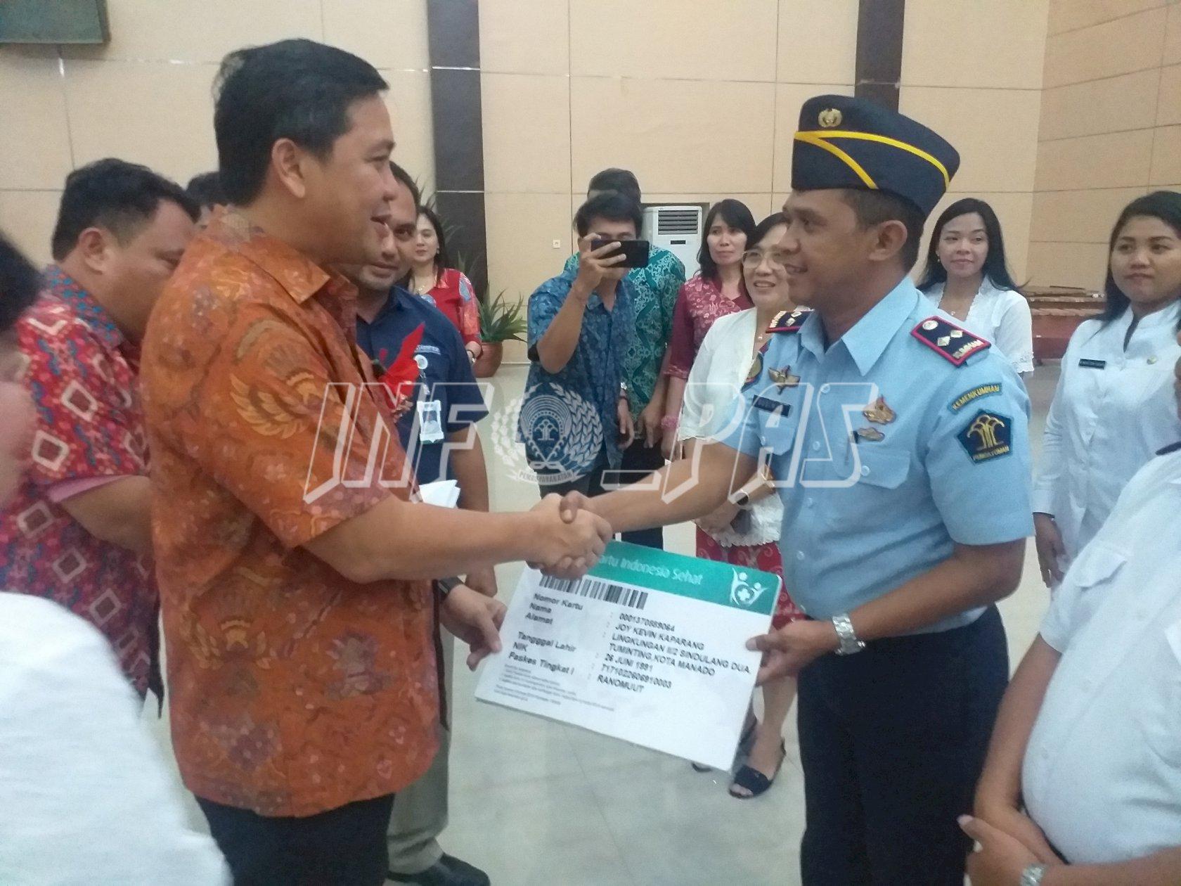 Rutan Manado Terima BPJS Kesehatan Dari Pemprov Sulut