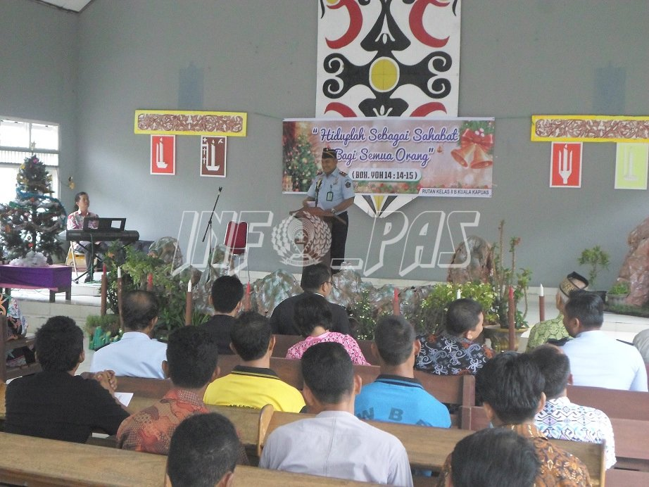 WBP Beribadah Bersama Panitia Perayaan Natal se-Kota Kuala Kapuas