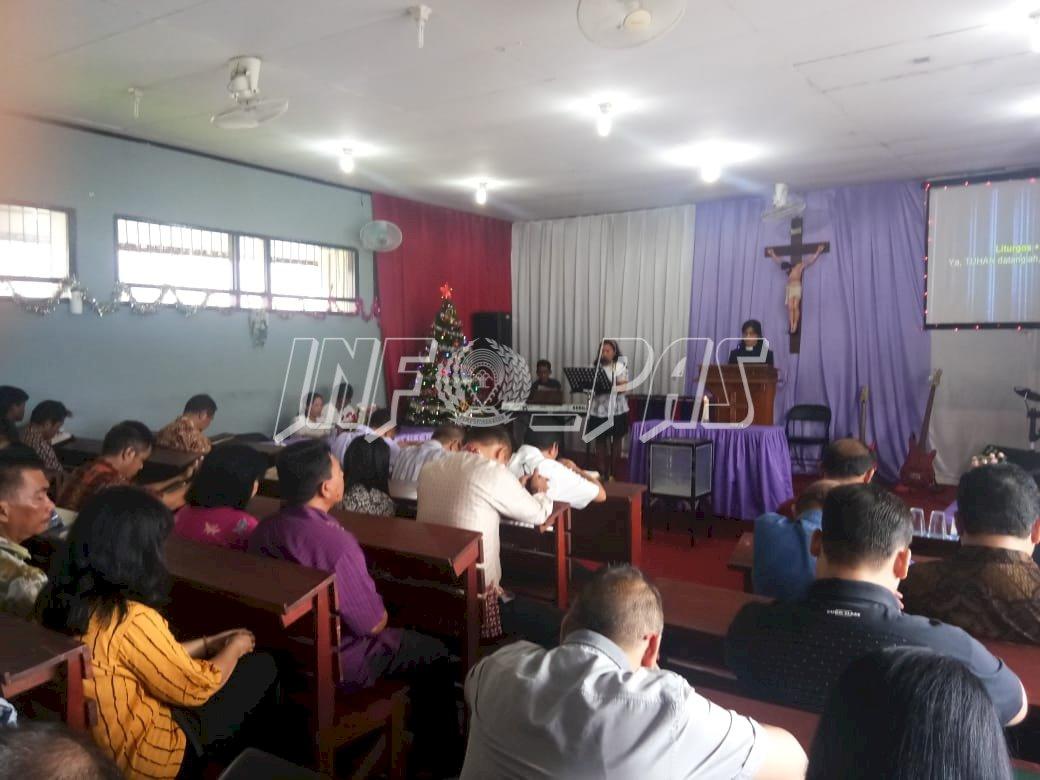 WBP Lapas Palangka Raya Beribadah Minggu Bersama Ibadah Adventus